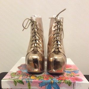 JEFFREY CAMPBELL Lita in Rose Gold NEW in box